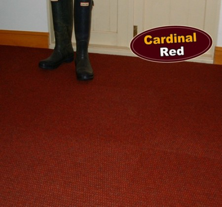 Cardinal Red Carpet Tile on the floor