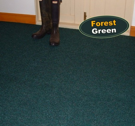 Forest Green Carpet Tiles for office or industrial use