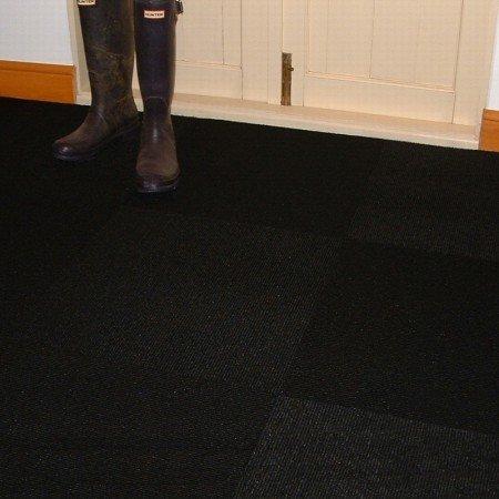 Jet Black Carpet Tiles