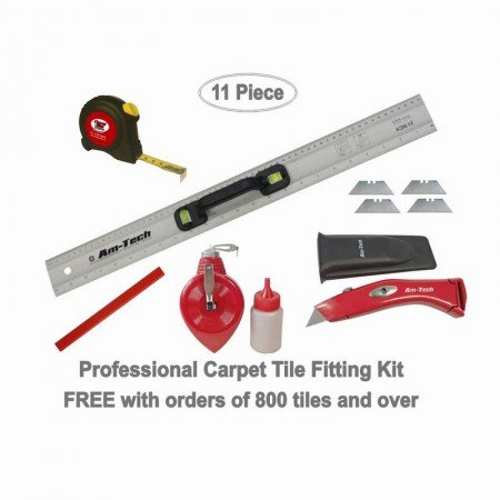 Carpet Tile Tool Kit 11 Piece