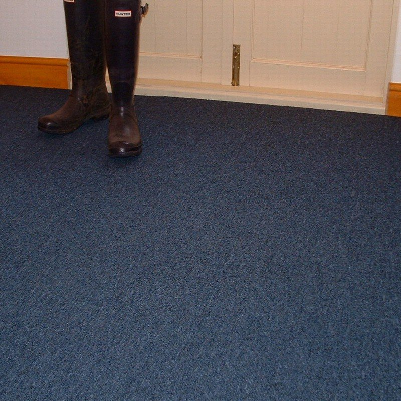 Milano blue carpet tiles domestic and commercial use for Classroom floor