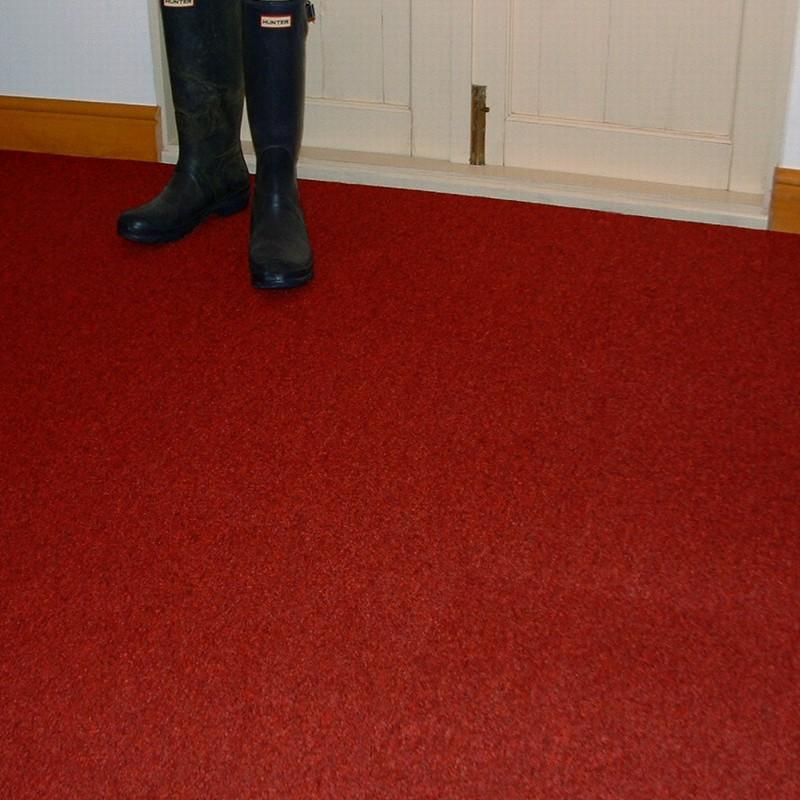 Rivoli Red Carpet Tile Warm Red Flecked Carpet Tiles