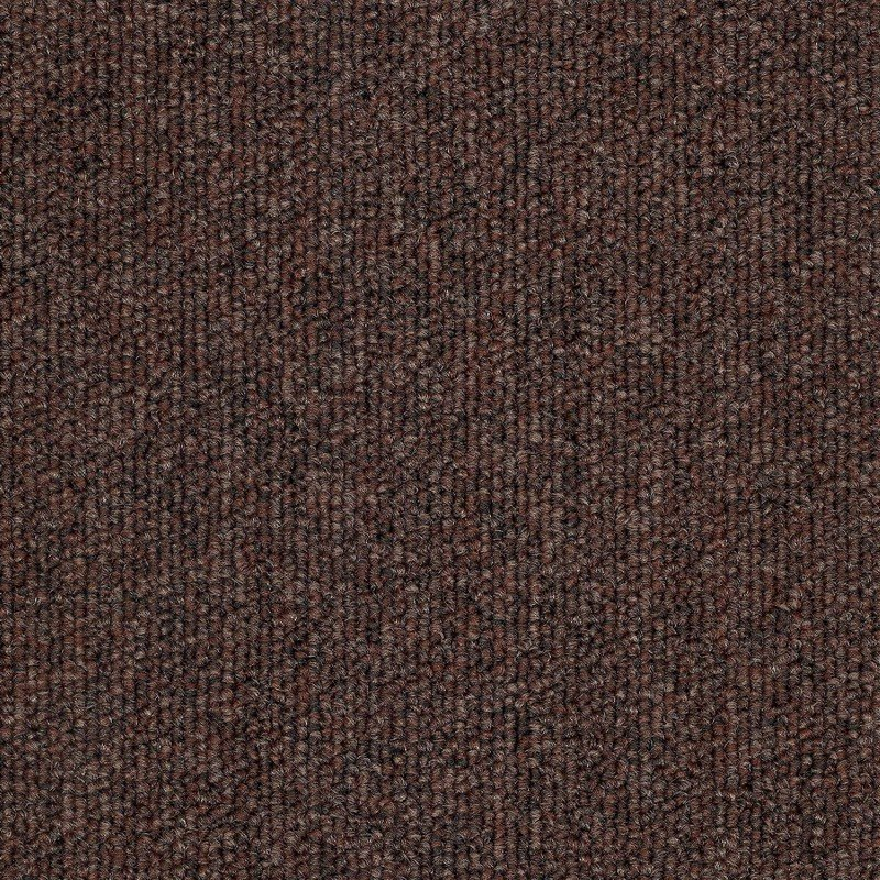 Clipper Brown Carpet Tiles Brown Nylon Loop Pile Tile