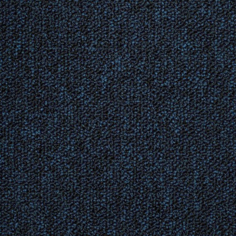 Trafalgar Blue Carpet Tiles Nylon Loop Carpet Tiles