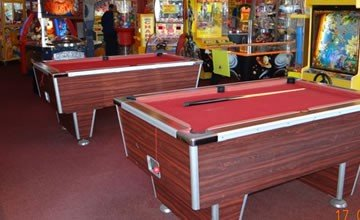 Red Carpet Tiles for Snooker Halls and Amusement Arcade Flooring