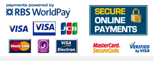 Your payment details are safe and secure, processed through RBS Worldpay